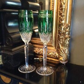 Lovely pair Waterford crystal glasses. Cost £200