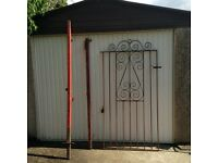 **Sold pending collection tonight ** 3ft x 6ft Metal Gate with Posts
