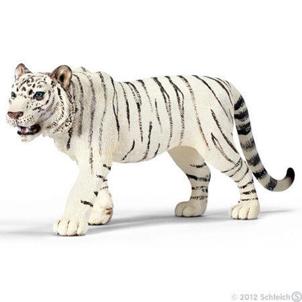 RETIRED NEW SCHLEICH 14382 White Male Tiger Asian Wildlife