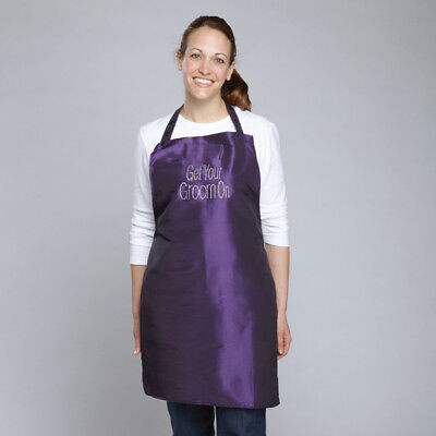 """Pet""""GET YOUR GROOM ON""""DOG GROOMING WATER Hair Resistant RHINESTONE Studded APRON"""