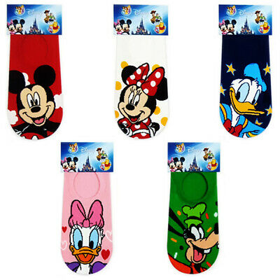 5 Pairs Disney Character Korean Socks Unisex Big Kids Mickey Cute Cartoon Socks