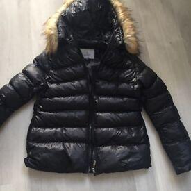 Ladies Black moncler style coat