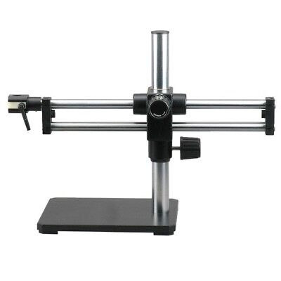 Double Arm Boom Stand For Stereo Microscopes - Steel Arms Pin Mount