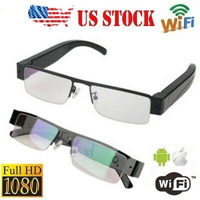Wifi HD1080P hidden Spy Glasses Camera p2p H.264 compression motion detect