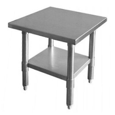 Thunder Group Slwt42424f Flat Top Work Table Stainless Steel 24 X 24 X 34