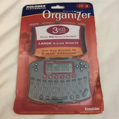 Franklin Rolodex Electronics Personal Organizer Rf-3 Scheduler Calculator Clock