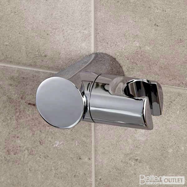 Shower Head Holder Replacement Bracket Bathroom Wall Mounted Hand Hose Chrome