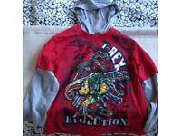 Boys Long Sleeve Hooded Dinosaur T-Shirt age 6 Years