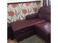 Quick sale of a Quality leather right corner sofa used but durable