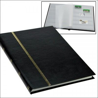 Stamp Collecting Albums - Stockbook Black - 16 White Pages-Small Book Format