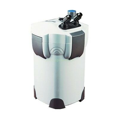 4-STAGE AQUARIUM CANISTER FILTER + 9W UV STERILIZER 265 GPH FRESH/SALT 75 Gallon