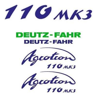 Deutz-fahr Agrotron 110 Mk3 Tractor Decal Aufkleber Sticker