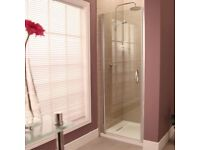 Aquafo flo iris 8mm hinged shower door, brand new.