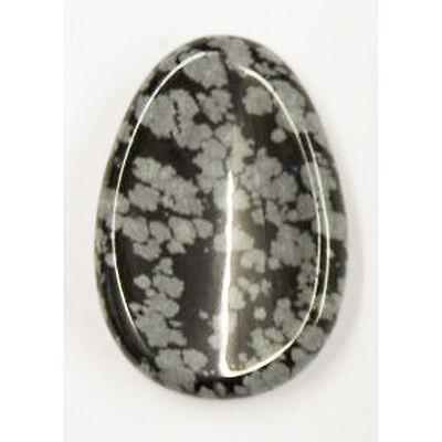 Edelsteine, Daumenstein, Schneeflocken-Obsidian