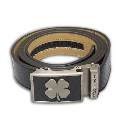 NEW Nexbelt Black Clover Series Live Lucky Cut to Fit Carbon Black Classic Belt