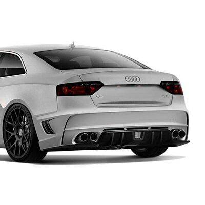 For Audi A5 Quattro 08-17 Rear Bumper Cover Eros Style Version 1 Fiberglass Rear