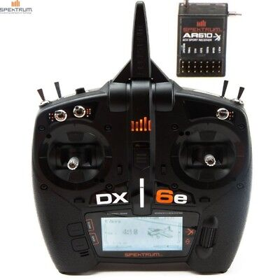 New Spektrum Dx6e Dsmx Transmitter   Ar610 Receiver Spm6650