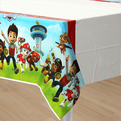 PAW PATROL PLASTIC TABLE COVER ~ Birthday Party Supplies Decorations Tablecloth](Plastic Tablecloths Decorating)
