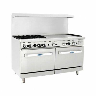 Atosa Usa Ato-4b36g 60 Gas Restaurant Range 2 Standard Ovens 4 Open Bu...