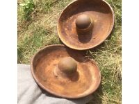 MEXICAN HATS cast iron pig troughs