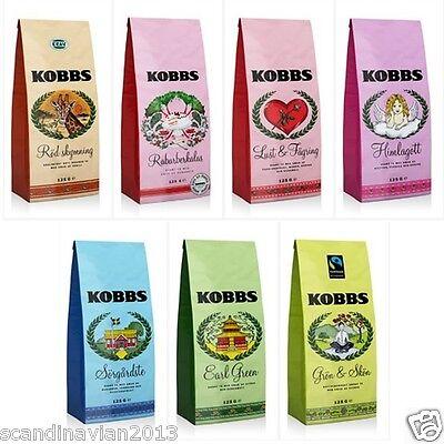 - 2 Packs x KOBBS All 11 Kinds Loose Tea in One Bag 125g ( 4.4oz ) Made in Sweden*