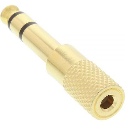 InLine® Audio Adapter 6,3mm Klinke Stecker an 3,5mm Klinke Buchse Stereo gold