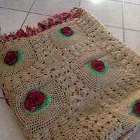 Couvre lit artisanal au crochet