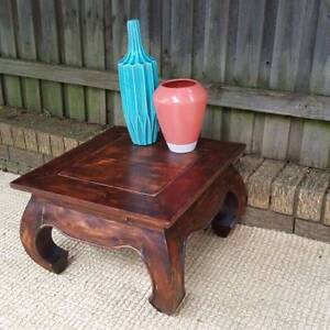 Distressed Timber Square Coffee Side Table Coogee Eastern Suburbs Preview