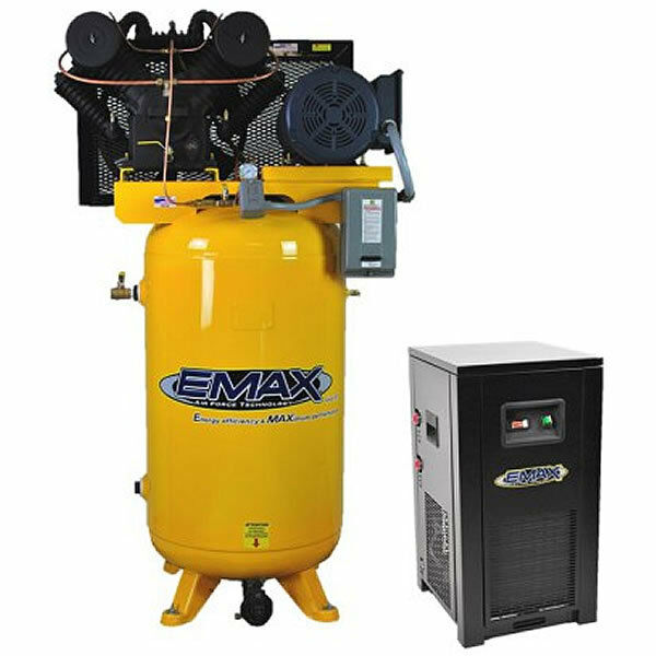 Emax Industrial Plus 10-hp 80-gallon V-4 Two-stage Air Compressor W/ Dryer (2...