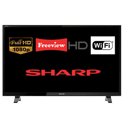 "Sharp LC-48CFF6001K 48"" Smart LED TV Full HD 1080p Built-In Freeview HD Wi-Fi"
