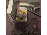 Nintendo wii with game.