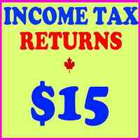 PERSONAL TAX RETURN - FROM $15