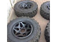 Mitsubishi shogun/pajero/L200 rims with tyres