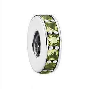 PANDORA ETERNITY OLIVE GREEN CRYSTAL CHARMS