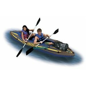 NIB-Intex-K2-Challenger-2-Person-Inflatable-River-Kayak-Canoe-Lake-Boat-NEW
