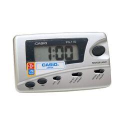 CASIO PQ-11D-8R SILVER Digital LED Travel Alarm Clock w/ SNOOZE PQ11D-8RDF New