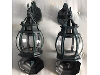 Two really nice outdoor lights with glass enclosure, costs £47.99 each,take both at only £45