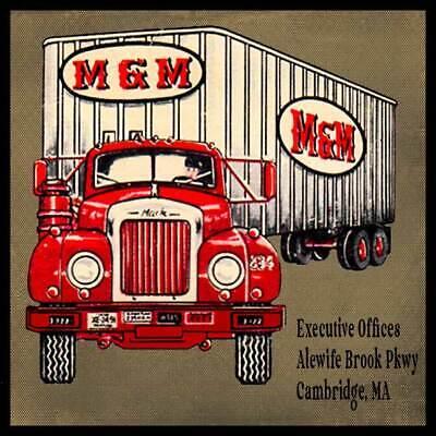 M & M Transport Trucking Co Cambridge MA Fridge Magnet