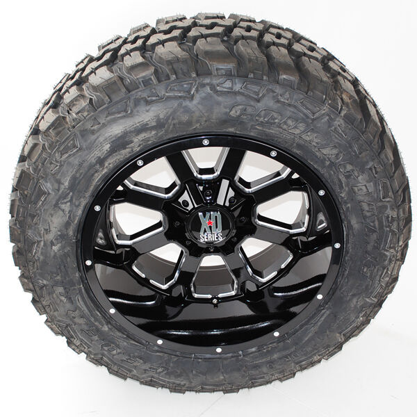 20x12 Xd 825 Black Milled Federal Mt 35x12.50r20 Wheels Tires