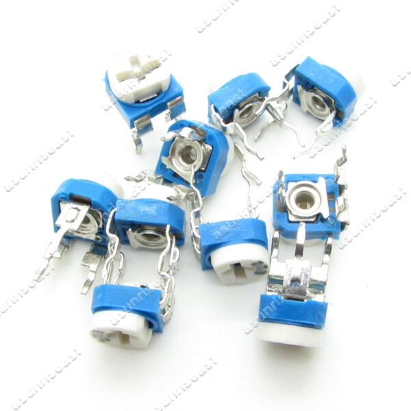 500 x Blue White 500K Ohm 504 Trimpot Trimmer Potentiometer Variable Resistor