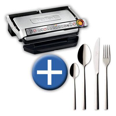Tefal Gc722d Optigrill Plus Xl, Plus-modell Mit Zusätzlichen Temperaturstufen Und Xl-grillfläche, 2000 W, Automatische Anzeige Des Garzustandes, 9 Voreingestellte Grillprogramme, Schwarzsilber
