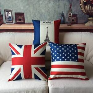 Vintage Flags Sofa Cushion Pillow Cover Cases (Meiranne) Northcote Darebin Area Preview