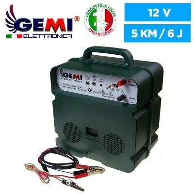 Electric Fence Energiser 12vbattery 220v Powered 5 Km For Electric Fences Gemi