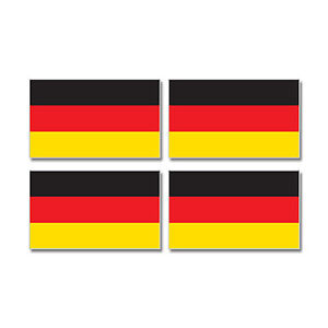 Germany German Country Flag - Sheet of 4 - Window Bumper Stickers