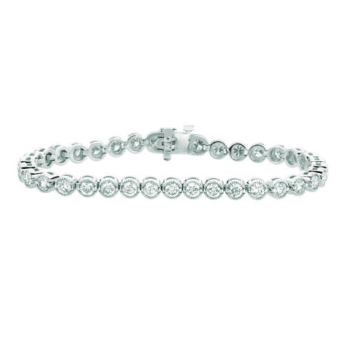 5.05 CT Natural Diamond Bracelet G SI 14K White Gold 7