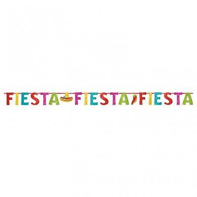 Mexikanische Fiesta Party Banner Girlande Dekoration Glitter Sombrero Chilli