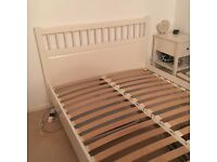 Cream bed frame 4ft 6 double