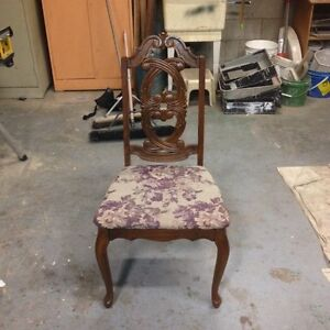 Pickle finish chair re-upholstered. Cambridge Kitchener Area image 2