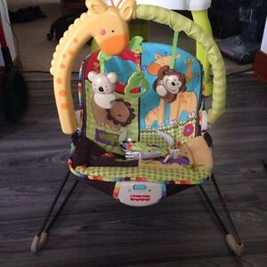 Baby swing, bouncy chair