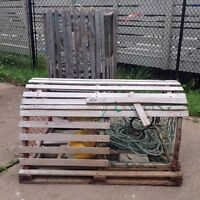Traditional lobster cage
